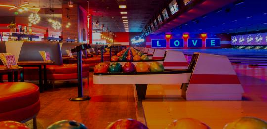 bowling lanes and ball returns