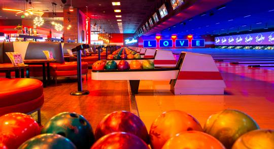 bowling alley at Bowlero