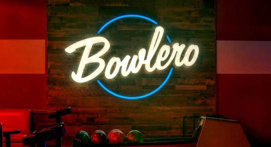 Bowlero Logo in Bowlero location