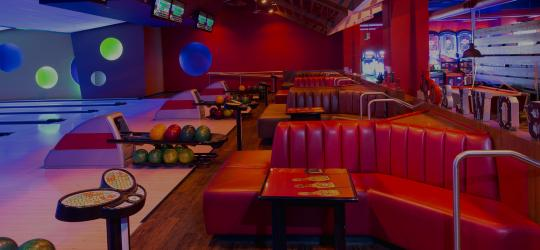 Bowling lanes and couches