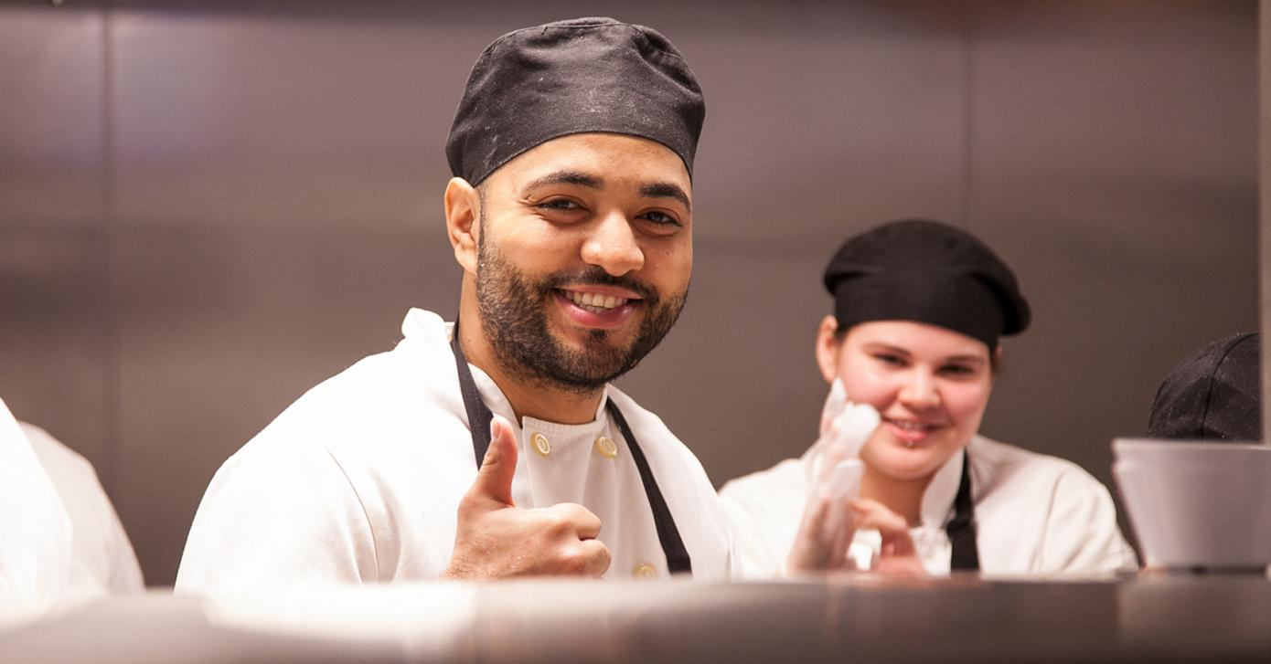 Chef giving a thumbs up