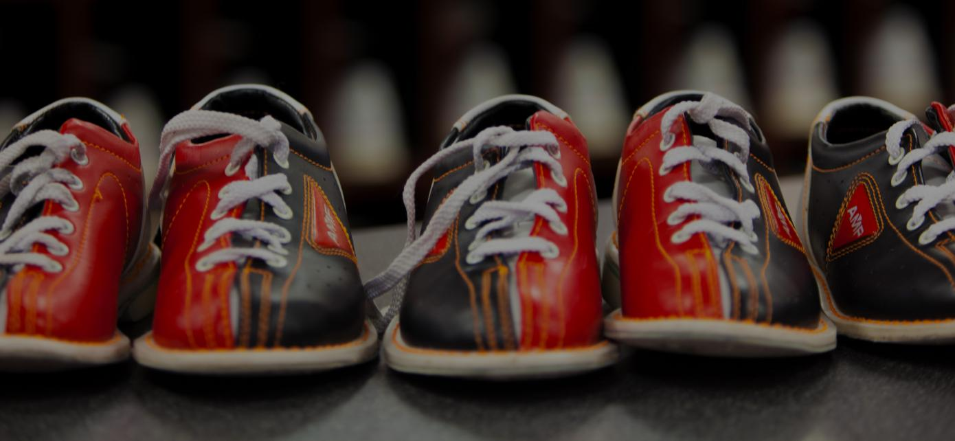 Bowling shoes on a table