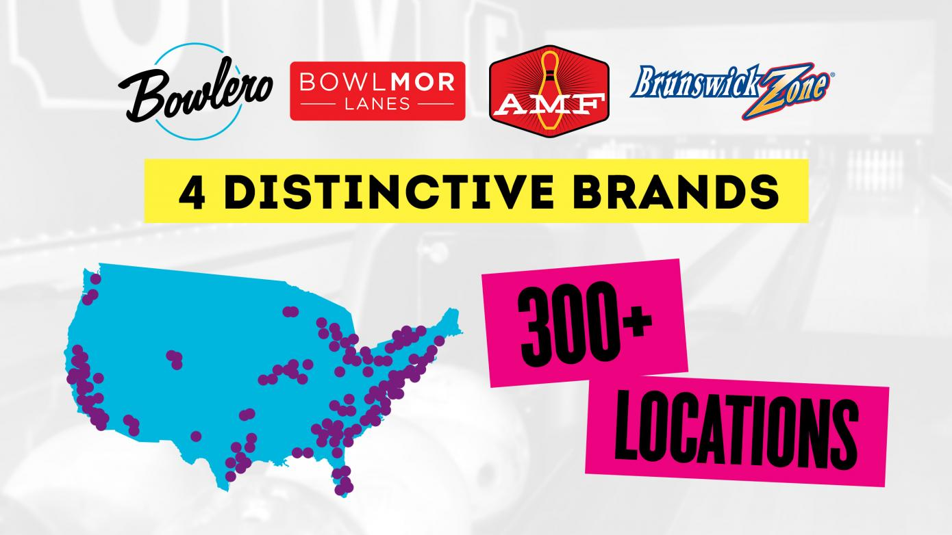 4 distinctive brands. 300+ Locations